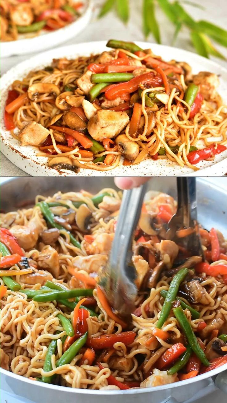 sweet and sour chicken with noodles and vegetables video
