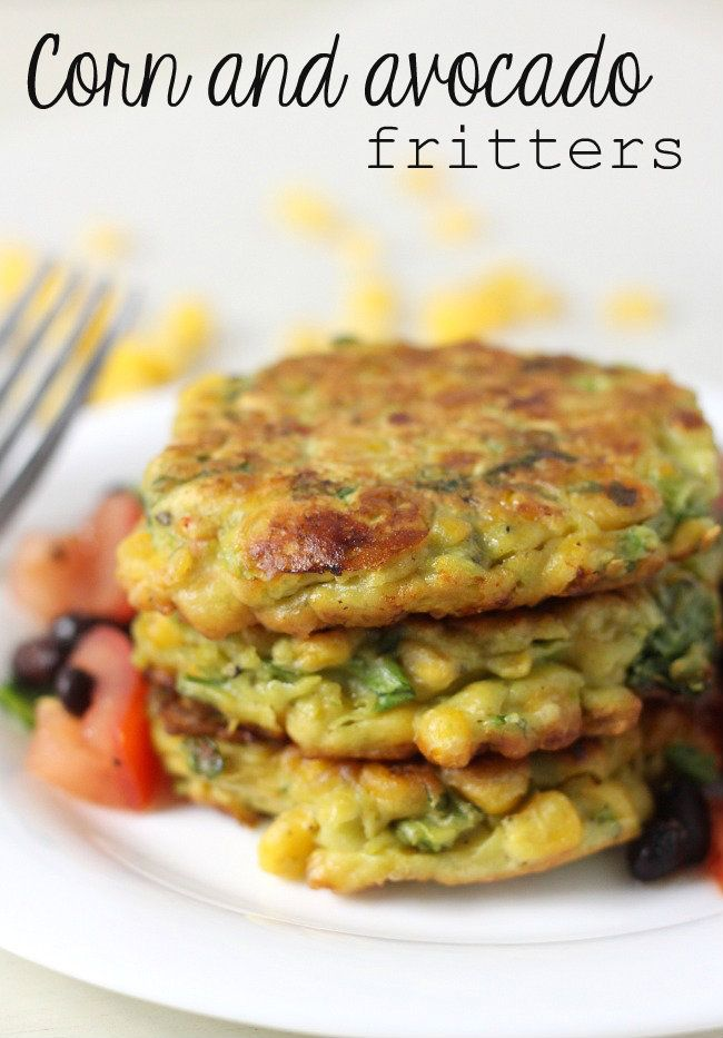Corn and avocado fritters - crispy yet creamy, with just a hint of spice!