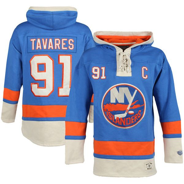 Blue Jersey John Tavares New York Islanders Old Time Hockey Youth Current  Player ... 48b199c45