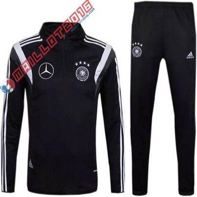 Nouveau Veste Adidas Training Allemagne 2016 Noir 37,99€