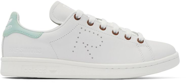 Raf Simons - White & Green Stan Smith adidas by RAF SIMONS Sneakers