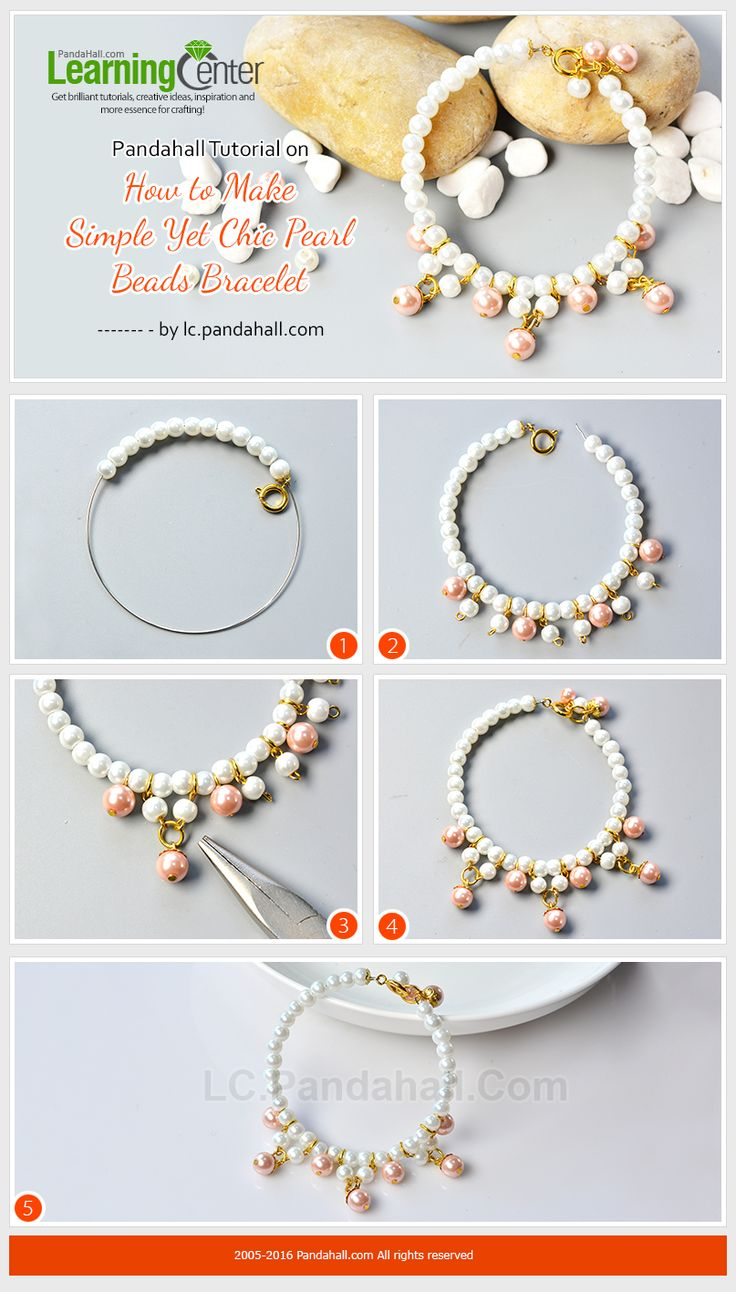 Pandahall Tutorial on How to Make Simple Yet Chic Pearl Beads Bracelet from LC.Pandahall.com