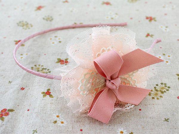 Diadema lazo rosa