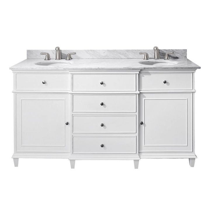 Avanity Windsor 60 Inch Vanity with Undermount Sinks