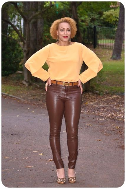 How to style leather pants for spring