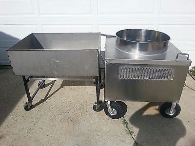 KETTLE CORN MACHINE~ 160QT. & SHIFTING TABLE