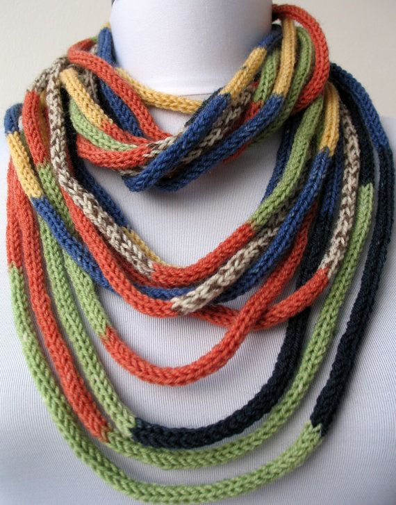 30 OFF SALE  Knit Scarf Necklace  loop scarf infinity by DreamList
