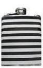Black & White 'Naggin' Hip Flask