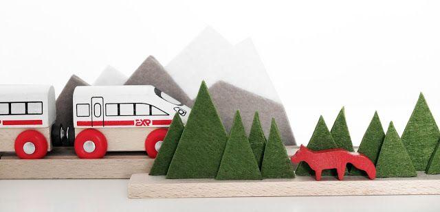 kinderkram... bäume und berge für die holzeisenbahn