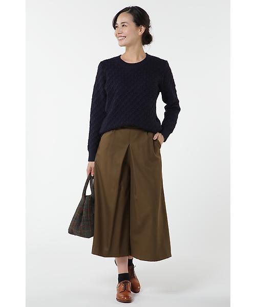 HUMAN WOMAN / ヒューマンウーマン スカート | 2/60ハイカウントサキソニー スカーチョ | 詳細2
