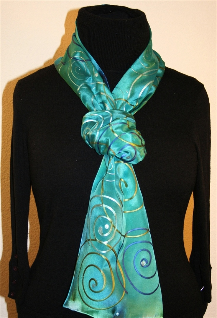 Best 25+ Painted silk scarves ideas on Pinterest | Silk ...