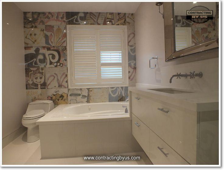 http://www.contractingbyus.com/portfolio/bathrooms/#729  #urban #graffiti #artlife #PerondaGroup #Bansky #tiles #streetart #home #master #bathroom #renovation #remodelling #house #renovationideas #renovationinspiration #OakvilleON #MississaugaON #BurlingtonON #MiltonON #TorontoON #generalcontractor #webuildyourdreams #bathtub #design #trends #designtrends
