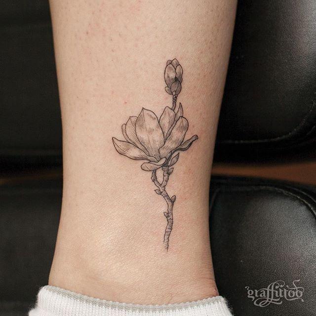 magnolia foot tattoo - photo #21