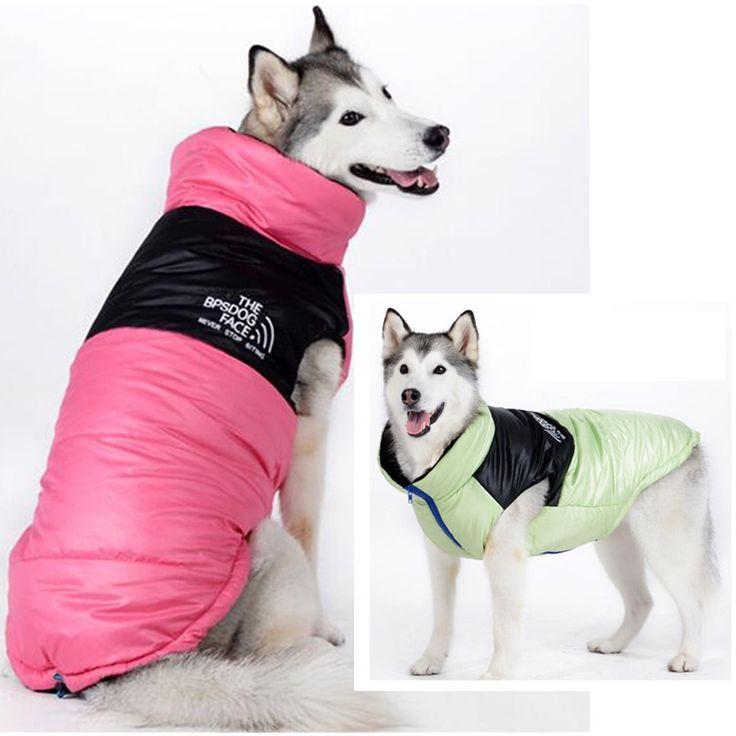 19-35 Inch Large Dog Clothes Clothing Waterproof Winter Jacket Warm Coat Ski For Golden Retriever Collie Tibetan Mastiff
