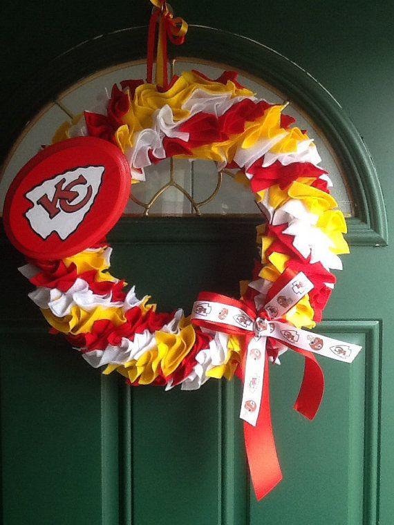 Kansas City Chiefs Decorative Wreath by KarensKreationsOhio, $35.00