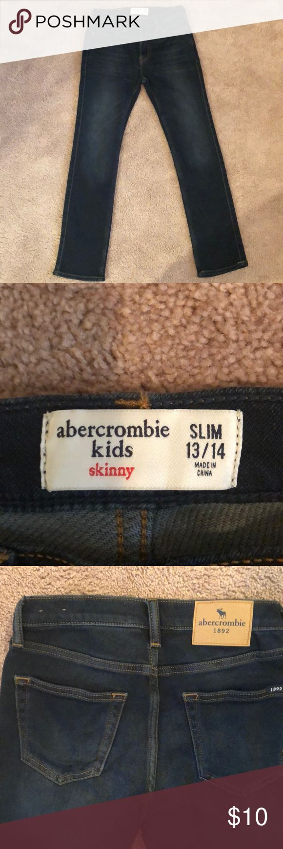 Boys Abercrombie jeans skinny.. Brand new no tags Abercrombie kids boys skinny jeans size 13/14 slim Abercrombie & Fitch Bottoms Jeans