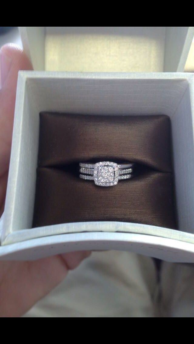 3 Band Engagement ring. Love it!