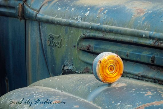 My Hometown : old truck photography americana by SeaLilyStudio