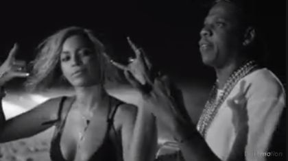 DRUNK in LOVE - I love this vid/ song!!!  She loves her man and he loves him some Bey...
