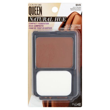Covergirl Queen Natural Hue Compact Foundation, Spicy Brown 545, 0.4 oz