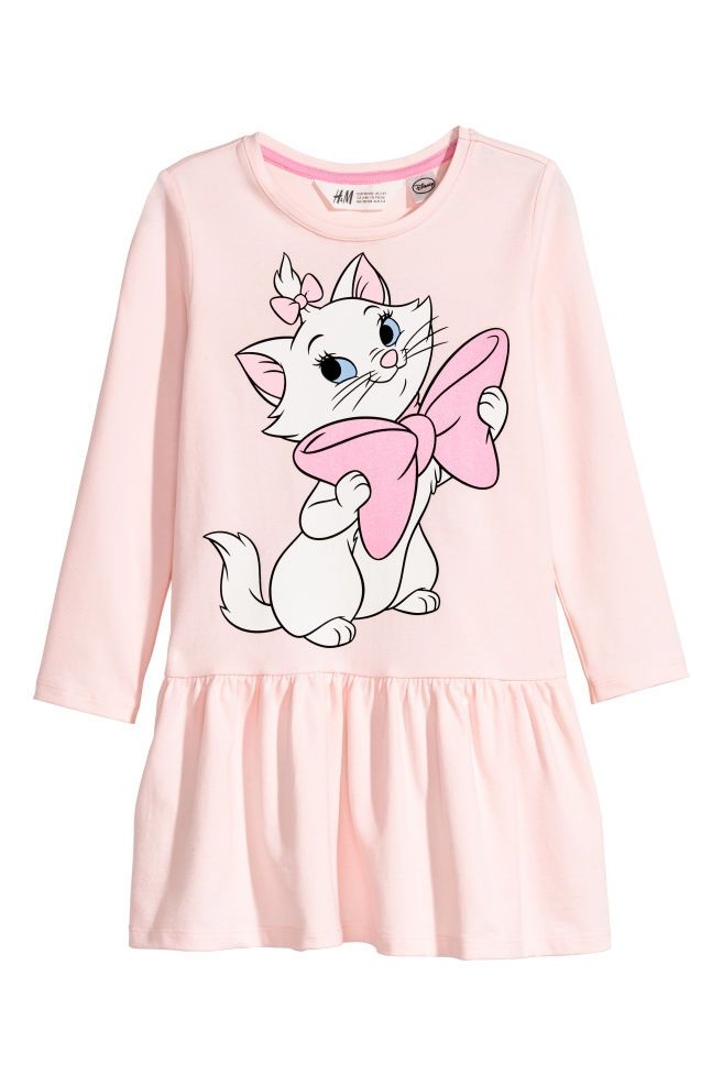 2858bd278c1 Трикотажное платье с принтом - Розовый Коты Аристократы - Дети