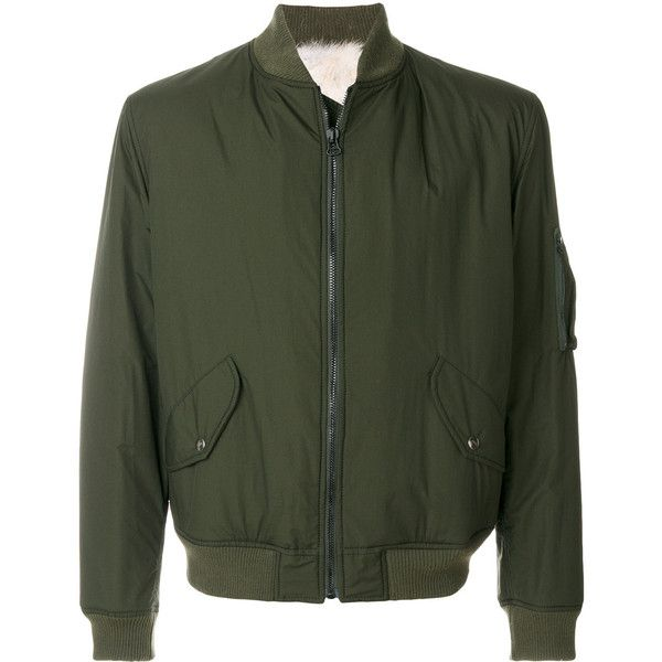 As65 bomber jacket with fox fur lining (€1.570) ❤ liked on Polyvore featuring men's fashion, men's clothing, men's outerwear, men's jackets, green, mens green jacket, mens leather bomber jacket, mens leather flight jacket, mens green bomber jacket and mens leather jackets