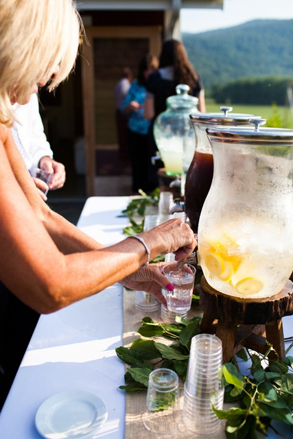 drink station wedding