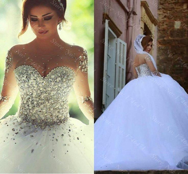 Walid Shehab Haute Couture - Illusion Sleeve Wedding Dress