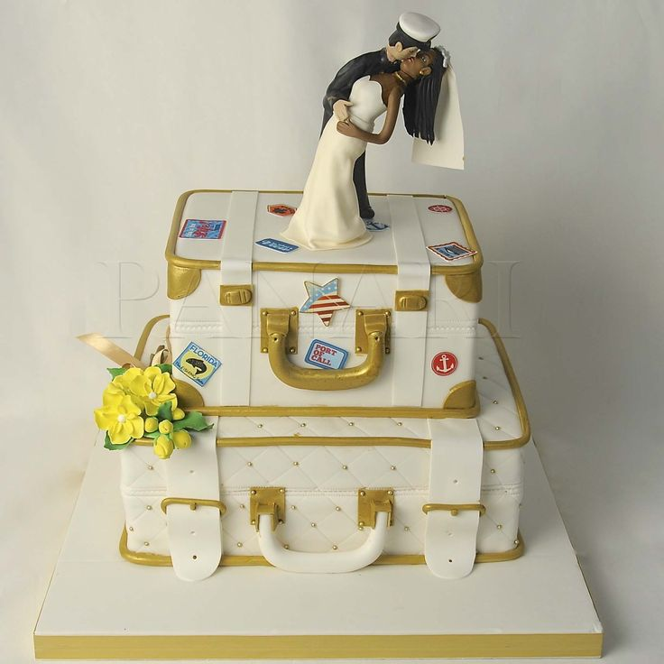 A Sailor & His Wife. Wedding Cake