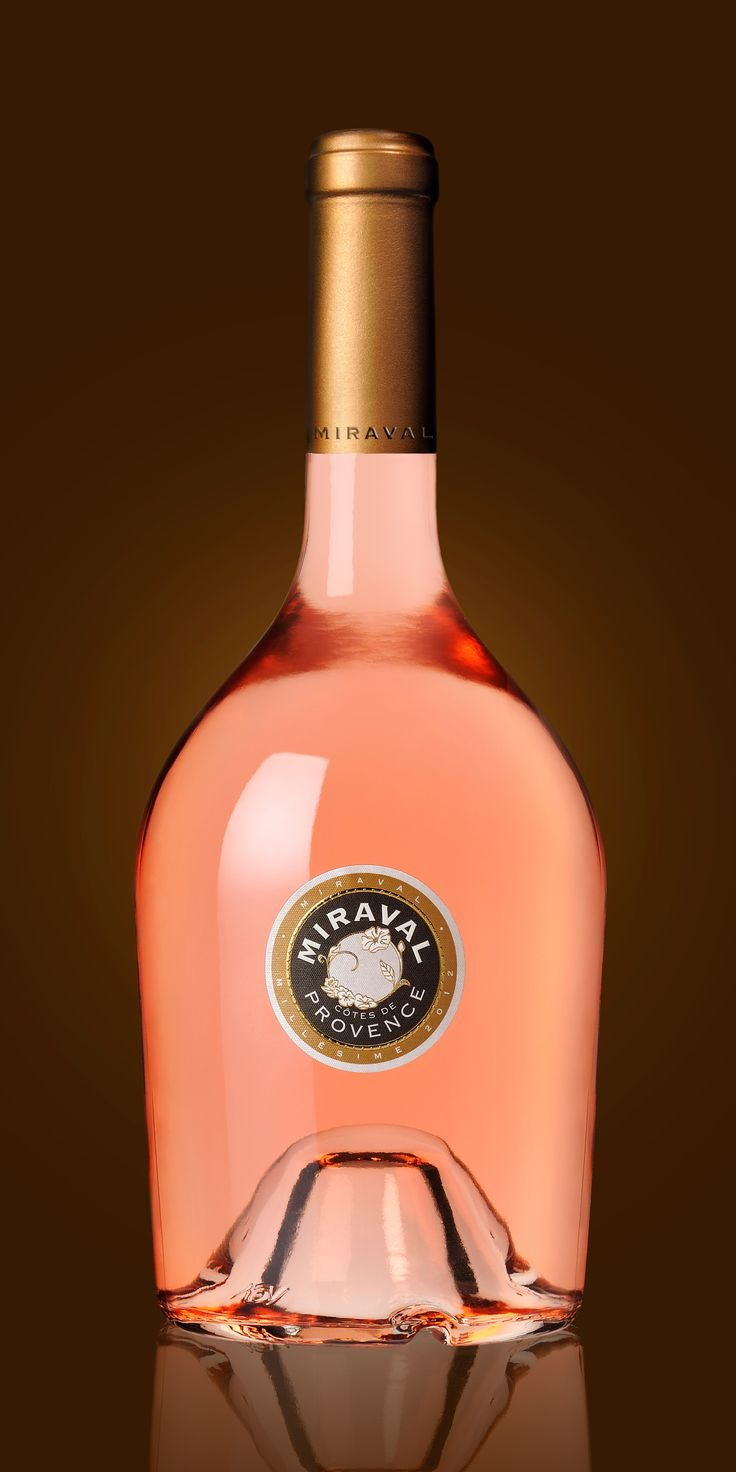 Création étiquette de vin rosé pour Chateau Miraval (Famille Perrin, Pitt & Joly)