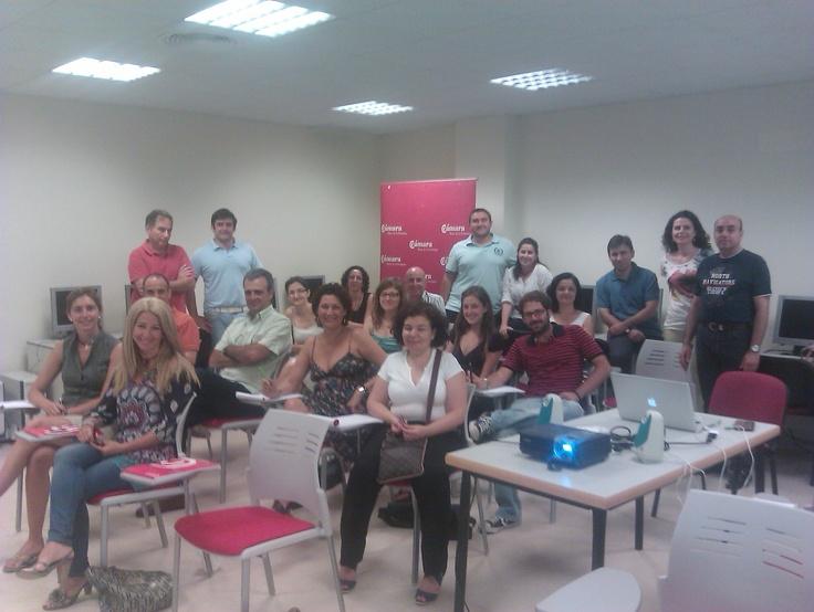grupo alumnos. curso RRSS y empleo 2.0 en Cámara Comercio Jerez. 25 y 26 junio 2012