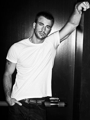 Chris Evans... the human Torch and Captain America; both hot and a hottie
