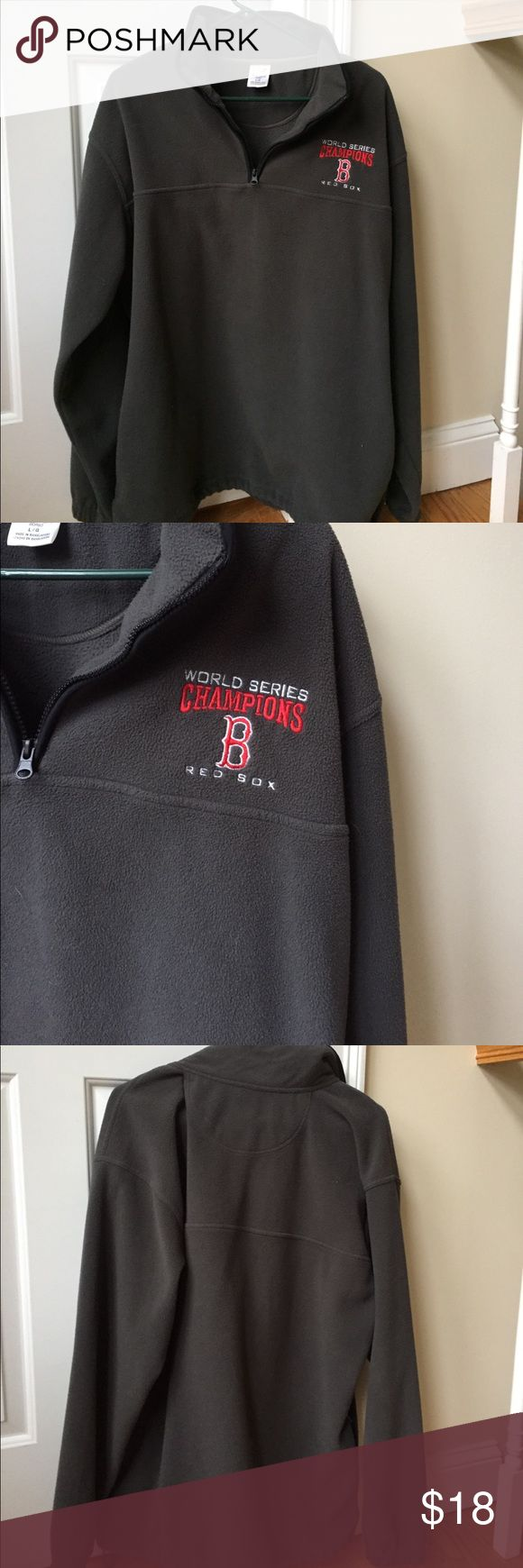 Dark Gray Fleece Jacket Boston Red Sox Cozy and warm Dark gray fleece.  World Series Rex Sox with the emblem B imprinted.  Go Red Sox!! Jackets & Coats