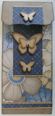 by Sherri Tozzi.... with wooden butterflies: Cards Ideas, 1B Carddesign, Cards Gener, Cards En, Cards Butterflies, Cards 10, Cards Embossing, Butterflies Cards, 27 Cards