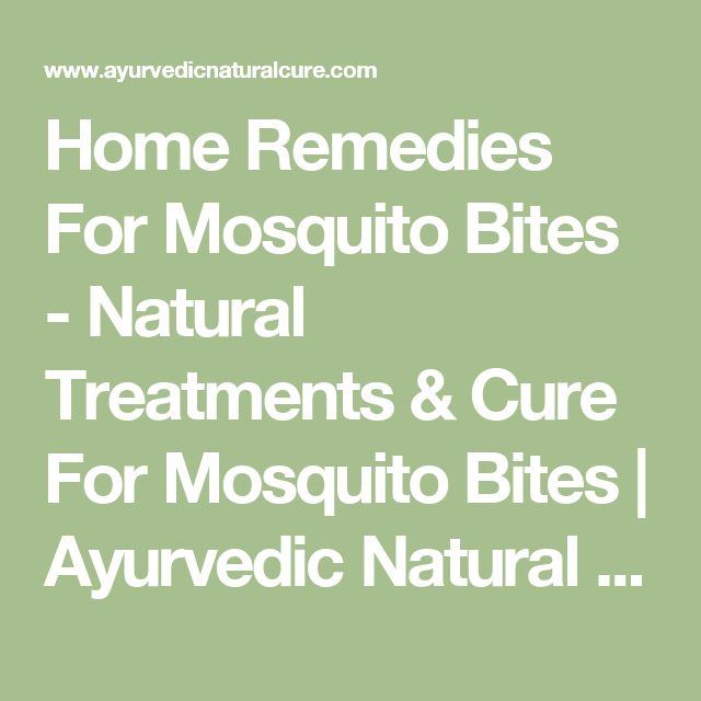 Home Remedies For Mosquito Bites - Natural Treatments & Cure For Mosquito Bites | Ayurvedic Natural Cure Supplements