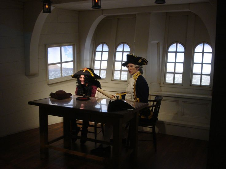 A wax figure of Captain Cook (?) in the Madame Tussaud's gallery in Sydney.