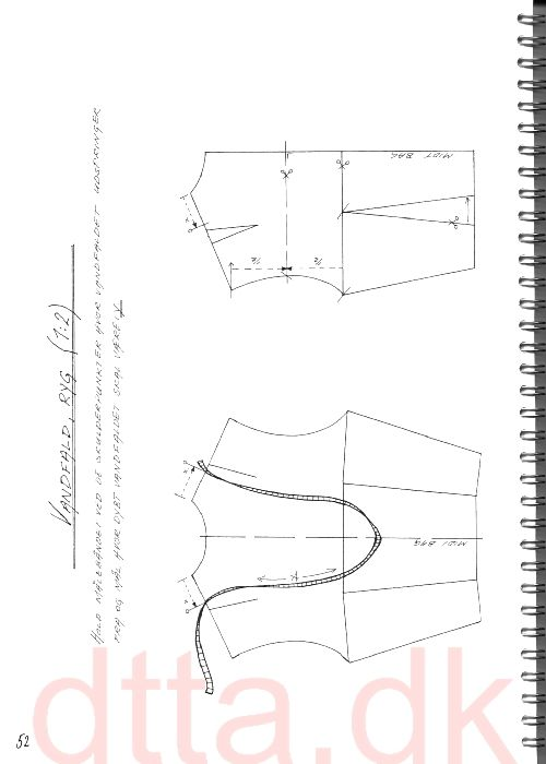 SYSTEM DTTA: PAGE 52/53   Tailoring - patternmaking, cutting and sewing   THE DESIGN AND TECHNICAL TAILORING ACADEMY   TILSK�RERAKADEMIET I K�BENHAVN (KBH)