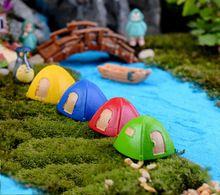4 stks veld tent hars tuin ornamenten huis fairy tuin miniaturen ambachtelijk beeldjes fles decoratie poppenhuis diy(China (Mainland))
