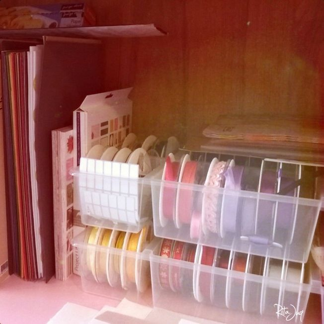 Some of my scrapbook paper, Project Life cards, and two of my all-time-favourite IKEA storage units ANTONIUS  which I use to store my ribbons. I <3 how useful, easy to store and nicelly divided they are. WHY DID THEY STOP PRODUCTION? CAN'T UNDERSTAND.