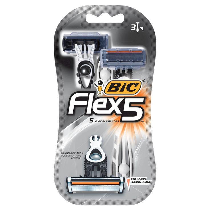 Bic Flex 5 Five Blade Disposable Razor for Men - 3ct