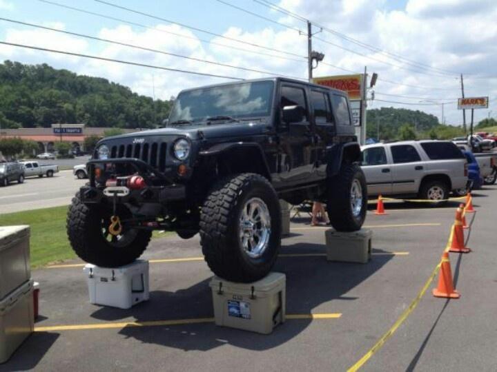 Yeti Coolers With A Fat Jeep On Em Vehicles Yeti Ice Jeep Yeti