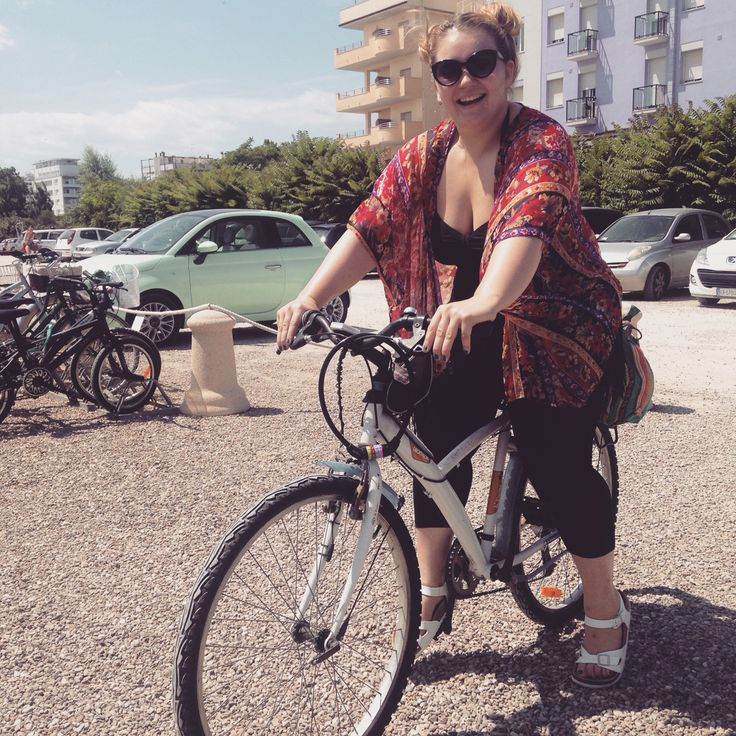First time I road a bike in ten years! And I love it. Thanks Italy for showing me the light :) #bike #italy #coast #MiMa