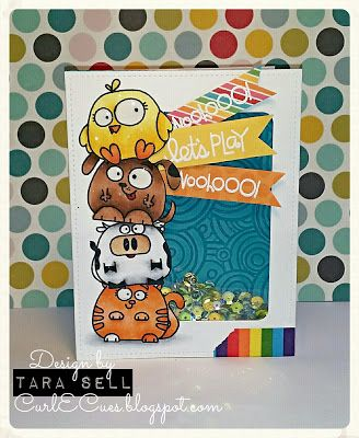 Let's Play card by Tara Sell - Paper Smooches - Chubby Chums