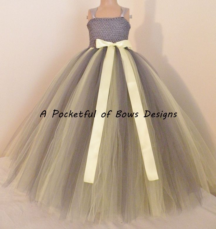 Www Thatssocuteboutique Com Gray And Yellow Flower Tutu Dress