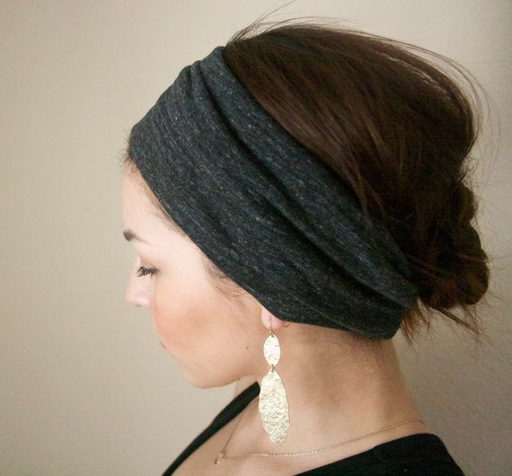 Womens Headband Ruche in Grey Girls Headband by MAMAOWLSHOP, $13.00