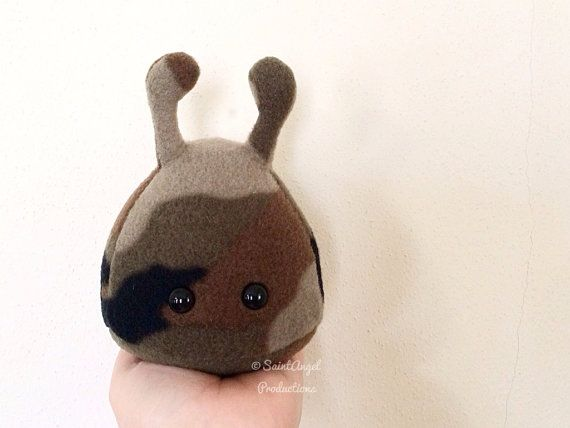Camouflage Stuffed Alien Plush, Small Camo Plushie, READY TO SHIP on Etsy, $15.00