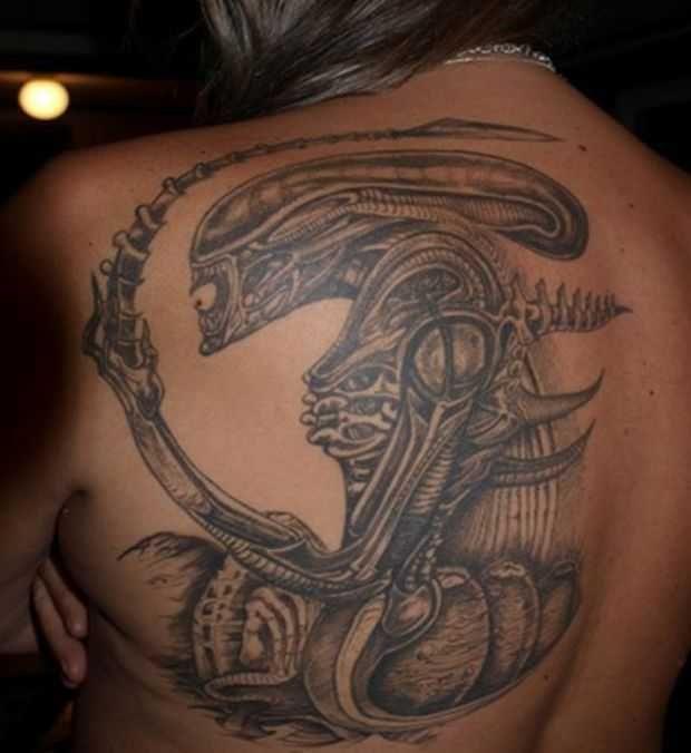 Gieger Tattoos Designs: 149 Best H.R. Giger Inspired Tattoos Images On Pinterest