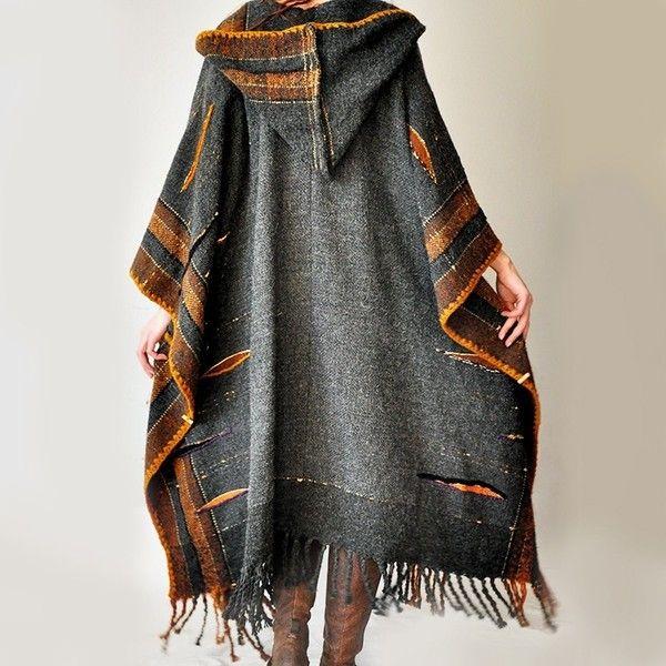 Hand woven poncho