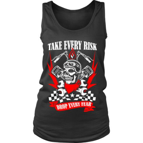 Motorcycle - 'Take Evey Risk' District Women's Tank