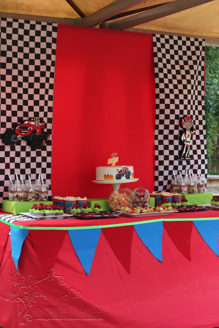 Blaze and the Monster Machine Dessert Table #BlazeAndTheMonsterMachine #LetsBlaze